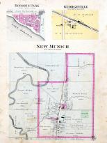 New Mulch, Koronis Park, Georgeville, Stearns County 1896 published by C.M. Foote & Co